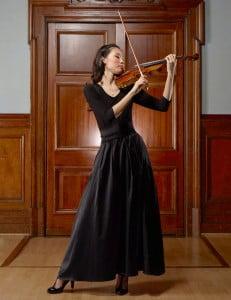 Violinist wearing Clara skirt