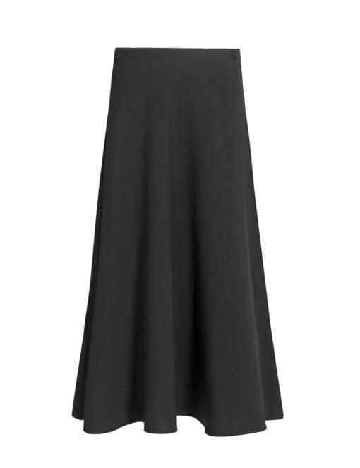 Vivien black maxi skirt, child - front view
